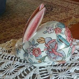 Beautiful floral bunny rabbit figure